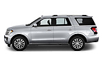 Car driver side profile view of a 2018 Ford Expedition Limited 5 Door SUV