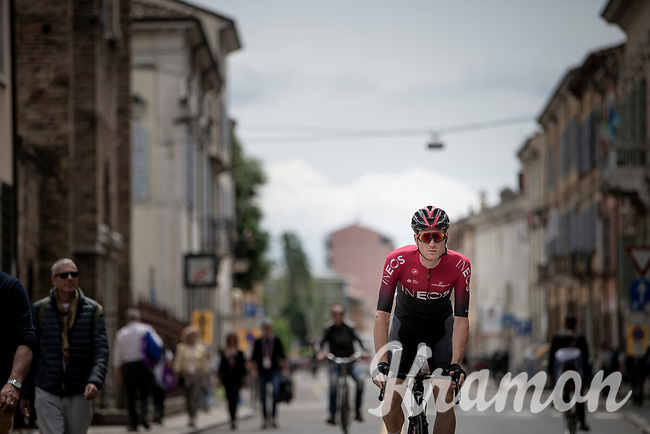 Salvatore Puccio (ITA/Ineos) on his way to the start<br /> <br /> Stage 10: Ravenna to Modena (147km)<br /> 102nd Giro d'Italia 2019<br /> <br /> ©kramon