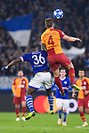 06.11.2018, VELTINS Arena, Gelsenkirchen, Deutschland, GER, UEFA Champions League, Gruppenphase, Gruppe D, FC Schalke 04 vs. Galatasaray Istanbul<br /> <br /> DFL REGULATIONS PROHIBIT ANY USE OF PHOTOGRAPHS AS IMAGE SEQUENCES AND/OR QUASI-VIDEO.<br /> <br /> im Bild Zweikampf zwischen Breel Embolo (#36 Schalke) und Serdar Aziz (#4 Istanbul)<br /> <br /> Foto &copy; nordphoto / Kurth