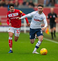 Preston North End's Sean Maguire (right)  under pressure from Bristol City's Liam Walsh (left) <br /> <br /> Photographer David Horton/CameraSport<br /> <br /> The EFL Sky Bet Championship - Bristol City v Preston North End - Saturday 10th November 2018 - Ashton Gate Stadium - Bristol<br /> <br /> World Copyright &copy; 2018 CameraSport. All rights reserved. 43 Linden Ave. Countesthorpe. Leicester. England. LE8 5PG - Tel: +44 (0) 116 277 4147 - admin@camerasport.com - www.camerasport.com