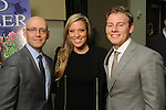 From left: Author Brad Meltzer with Holly and Austin Alvis at the VIP Reception for the Celebration of Reading event at the Hobby Center Thursday  April 21,2016(Dave Rossman Photo)