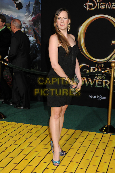 "Victoria Swihart.""Oz the Great and Powerful"" Los Angeles Premiere held at the El Capitan Theatre, Hollywood, California, USA..February 13th, 2013 .full length silver clutch bag blue shoes black strapless  .CAP/ADM/BP.©Byron Purvis/AdMedia/Capital Pictures."
