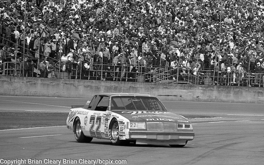 Bobby Allison out of race garage Daytona 500 at Daytona International Speedway in Daytona Beach, FL in February 1985. (Photo by Brian Cleary/www.bcpix.com) Daytona 500, Daytona International Speedway, Daytona Beach, FL, February 1985. (Photo by Brian Cleary/www.bcpix.com)