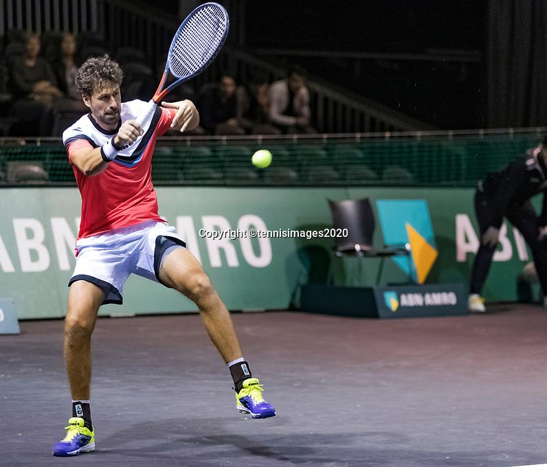 Rotterdam, The Netherlands, 9 Februari 2020, ABNAMRO World Tennis Tournament, Ahoy, Doubles: Robin Haase (NED).<br /> Photo: www.tennisimages.com