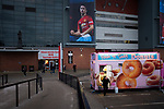 A doughnut van outside the stadium pictured before Manchester United hosted Manchester City at Old Trafford. This was the 178th time the sides had met, with City looking to overtake rivals Liverpool in the race for the English Premier League title. City won the match 2-0 watched by 74,431 spectators.