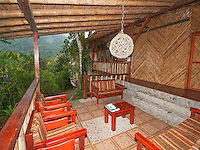 Veranda outside the guest rooms at San Jorge Eco-Lodge, Tandayapa Valley, Ecuador