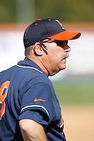Cal State Fullerton Titans Head Coach George Horton during a game against the Rice Owls at Goodwin Field on March 4, 2007 in Fullerton, California. (Larry Goren/Four Seam Images)