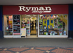 Ryman stationery shop in central business district of Swindon, England