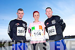 Daniel O'Conner, Carrie-Anne Boylan and Tommy Leahy at the Valentines 10 mile road race in Tralee on Saturday.