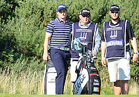 Paul Dunne (IRL) on the 12th tee during Round 1 of the 2015 Alfred Dunhill Links Championship at Kingsbarns in Scotland on 1/10/15.<br /> Picture: Thos Caffrey | Golffile