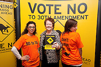 NO REPRO FEE. VOTE NO TO THE 30TH AMENDMENT. Pictured at the Official launch of the 'NO' Campaign at the The Westbury Hotel, Dubliin are L-R volunteer Dilyama Ryan, Mary O'Rourke, former TD, Senator and Oireachtas Committee Chair and volunteer Samantha Lyndon. Picture James Horan/Collins.
