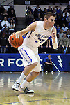 February 28, 2015 - Colorado Springs, Colorado, U.S. -  Air Force guard and CLASS Award candidate, Max Yon #22, works the top of the key during an NCAA basketball game between the Utah State Aggies and the Air Force Academy Falcons at Clune Arena, U.S. Air Force Academy, Colorado Springs, Colorado.   Utah State defeats Air Force 74-60.