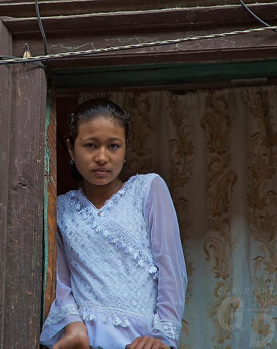 Young Girl at Khokana Village Kathmandu Valley, Nepal