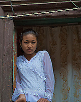 Young Girl at Khokana Village Kathmandu Valley, Nepal