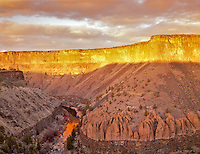 Crooked River and Canyon at sunset. Oregon.