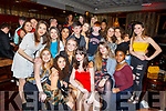 Claudia Murphy seated front centre, from Banna celebrating her 18th birthday in The Fiddler Bar on Friday night.