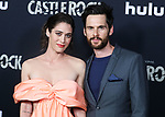 WEST HOLLYWOOD, LOS ANGELES, CALIFORNIA, USA - OCTOBER 14: Actress Lizzy Caplan and husband/actor Tom Riley arrive at the Los Angeles Premiere Of Hulu's 'Castle Rock' Season 2 held at AMC Sunset 5 on October 14, 2019 in West Hollywood, Los Angeles, California, United States. (Photo by Xavier Collin/Image Press Agency)