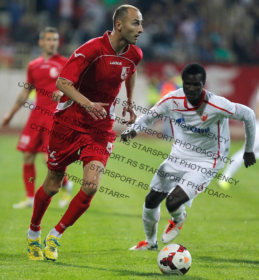 Fudbal Super liga season 2013-2014<br /> Radnicki Nis v Crvena Zvezda<br /> Rados Bulatovic (L)<br /> Nis, 26.10.2013.<br /> foto: Srdjan Stevanovic/Starsportphoto &copy;