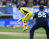 June 10th 2017, Edgbaston, Birmingham, England;  ICC Champions Trophy Cricket, England versus Australia; David Warner of Australia deals with the bouncer