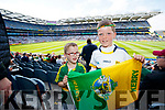 James O'Riordan (Blennerville, Tralee) and Darragh Keane (Tralee), pictured at the Kerry v Mayo all Ireland semi-final re-play in Croke Park, on Saturday last.