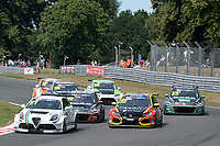#61 Derek PALMER (GBR) DPE Motorsport Alfa Romeo Giulietta TCR  during TCR UK Championship Race One as part of the BRSCC TCR UK Race Day Oulton Park  at Oulton Park, Little Budworth, Cheshire, United Kingdom. August 04 2018. World Copyright Peter Taylor/PSP. Copy of publication required for printed pictures.