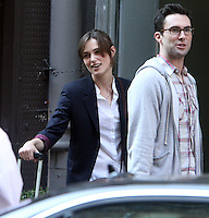 July 12, 2012  Adam Levine and Keira Knightley shooting on location for new VH-1 movie Can a Song Save Your Life? in New York City. © RW/MediaPunch Inc. /*NORTEPHOTO*<br />