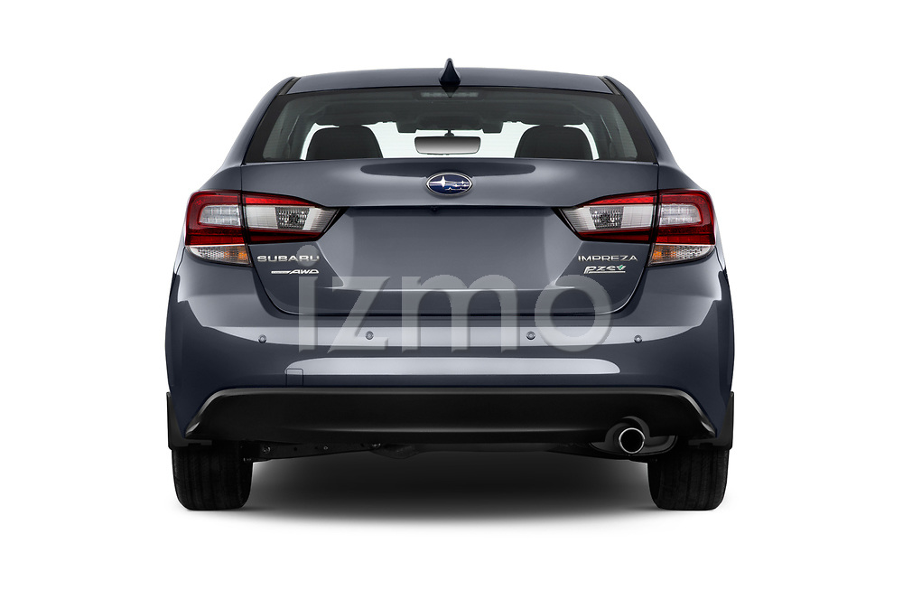 Straight rear view of 2018 Subaru Impreza 2.0i-Limited-CVT-PZEV 4 Door Sedan Rear View  stock images