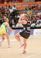 28.01.2017 Silver Ferns Samantha Sinclair in action during the Silver Ferns v Australian Diamonds netball test match played at the International Convention Centre studium in Durban, South Africa.<br />  Mandatory Photo Credit ©Reg Caldecott/Michael Bradley Photography.