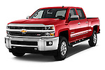 2015 Chevrolet Silverado 2500 4 Door Van angular front stock photos of front three quarter view