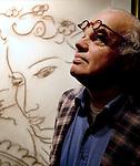 2005, Arnhem, Meester forger Geert-Jan Jansen in front of one of his masterpieces..photo Michael Kooren.