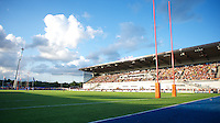 20130803 Copyright onEdition 2013 ©<br />Free for editorial use image, please credit: onEdition.<br /><br />General view of Allianz Park during the J.P. Morgan Asset Management Premiership Rugby 7s Series.<br /><br />The J.P. Morgan Asset Management Premiership Rugby 7s Series kicks off for the fourth season on Thursday 1st August with Pool A at Kingsholm, Gloucester with Pool B being played at Franklin's Gardens, Northampton on Friday 2nd August, Pool C at Allianz Park, Saracens home ground, on Saturday 3rd August and the Final being played at The Recreation Ground, Bath on Friday 9th August. The innovative tournament, which involves all 12 Premiership Rugby clubs, offers a fantastic platform for some of the country's finest young athletes to be exposed to the excitement, pressures and skills required to compete at an elite level.<br /><br />The 12 Premiership Rugby clubs are divided into three groups for the tournament, with the winner and runner up of each regional event going through to the Final. There are six games each evening, with each match consisting of two 7 minute halves with a 2 minute break at half time.<br /><br />For additional images please go to: http://www.w-w-i.com/jp_morgan_premiership_sevens/<br /><br />For press contacts contact: Beth Begg at brandRapport on D: +44 (0)20 7932 5813 M: +44 (0)7900 88231 E: BBegg@brand-rapport.com<br /><br />If you require a higher resolution image or you have any other onEdition photographic enquiries, please contact onEdition on 0845 900 2 900 or email info@onEdition.com<br />This image is copyright the onEdition 2013©.<br /><br />This image has been supplied by onEdition and must be credited onEdition. The author is asserting his full Moral rights in relation to the publication of this image. Rights for onward transmission of any image or file is not granted or implied. Changing or deleting Copyright information is illegal as specified in the Copyright, Design and Patents Act 1988. If you are in any way unsur
