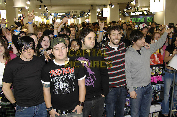 FUNERAL FOR A FRIEND.HMV Oxford Street, .London, June 15th 2005..half length band music crowd fans.Ref: HT.www.capitalpictures.com.sales@capitalpictures.com.©Hugh Thompson/Capital Pictures