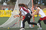 Santa Barbara, CA 02/19/11 - \s36\, Lisa Braun (Minnesota-Duluth #9)  and Anna Ponting (Stanford #5) in action during the Stanford - Minnesota-Duluth game at the 2011 Santa Barbara Shootout.