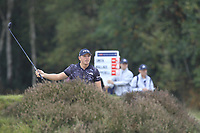 Matt Wallace (ENG) on the 2nd fairway during Round 3 of the Sky Sports British Masters at Walton Heath Golf Club in Tadworth, Surrey, England on Saturday 13th Oct 2018.<br /> Picture:  Thos Caffrey | Golffile