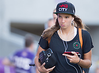Orlando, FL - Saturday October 14, 2017: Tobin Heath during the NWSL Championship match between the North Carolina Courage and the Portland Thorns FC at Orlando City Stadium.