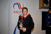 November 30, 2014, Almere, Tennis, Winter Youth Circuit, WJC,  Prizegiving, Luuk van Eeuwen, boys 14 years,  5th place.<br /> Photo: Henk Koster