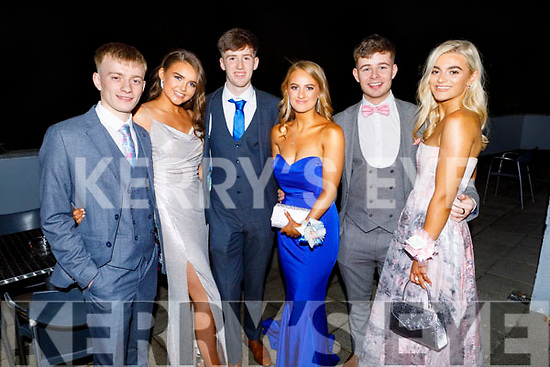 Jordan Foley, Ellen Linnane, Sean Duggan, Niamh Ferris, Aidan Mangan, Riadh O'Sullivan attending the Mercy Mounthawk Debs in the Ballyroe Heights Hotel on Friday.