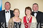 l-r: Donal Fitzgibbon, marian O'Reilly, Marian and Oliver  Murphy -   all sat nite ball itt   Copyright Kerry's Eye 2008