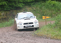 Tristan Pye / Stewart Merry at Junction 12 on Special Stage 2 Windy Hill of the 2012 RSAC Scottish Rally supported by Dumfries and Galloway Council, Round 5 of the RAC MSA Scottish Rally Championship which was based in Dumfries on 30.6.12.