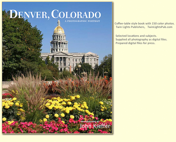 "I've photographed and led tours in Denver for years and was thrilled to be selected to photograph: ""Denver, Colorado: A Photographic Portrait."" (a hardcover book with 160 captioned, color photos)."