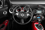 Steering Wheel View 2011 Nissan Juke SV SUV Stock Photo
