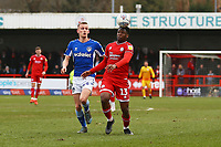 Ricardo German of Crawley Town  and Thomas Hamer of Oldham Athletic during Crawley Town vs Oldham Athletic, Sky Bet EFL League 2 Football at Broadfield Stadium on 7th March 2020
