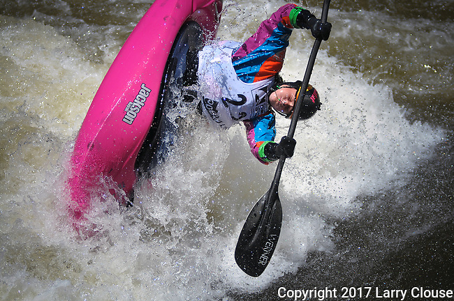 June 9, 2017 - Vail, Colorado, U.S. - Current Junior World Champion, Sage Donnelly, in the Freestyle Kayak competition during the GoPro Mountain Games, Vail, Colorado.  Adventure athletes from around the world meet in Vail, Colorado, June 8-11, for America's largest celebration of mountain sports, music, and lifestyle.
