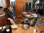 Chef Steve Kirch from Roundabout Catering during the Reno Bites Chef Showdown at Czyz's Appliance's gourmet kitchens in Reno, October 14, 2017.