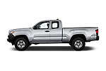 Car driver side profile view of a 2018 Toyota Tacoma SR Access Cab 4x2 4-Cyl Auto Long Bed 4 Door Pick Up