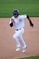 Peoria Javelinas second baseman Alex Blandino (15) running the bases during an Arizona Fall League game against the Mesa Solar Sox on October 21, 2015 at Peoria Stadium in Peoria, Arizona.  Peoria defeated Mesa 5-3.  (Mike Janes/Four Seam Images)