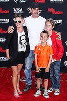 ANAHEIM, CA - JUNE 22: Natalie Maines, Adrian Pasdar, Jackson Pasdar and Beckett Pasdar attend The World Premiere of Disney/Jerry Bruckheimer Films' 'The Lone Ranger' at Disney California Adventure Park on June 22, 2013 in Anaheim, California. (Photo by Celebrity Monitor)