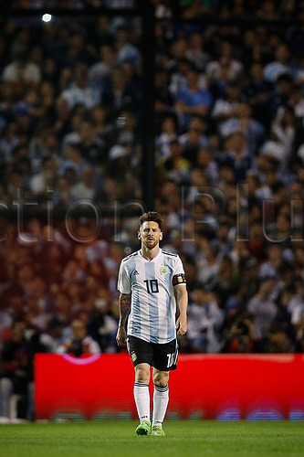 29.05.2018: ARGENTINA, Lionel Messi during the friendly match between Argentina and Haiti, held at the Alberto Jose Armando Stadium, known as La Bombonera, located in the La Boca neighborhood in the capital of Buenos Aires.