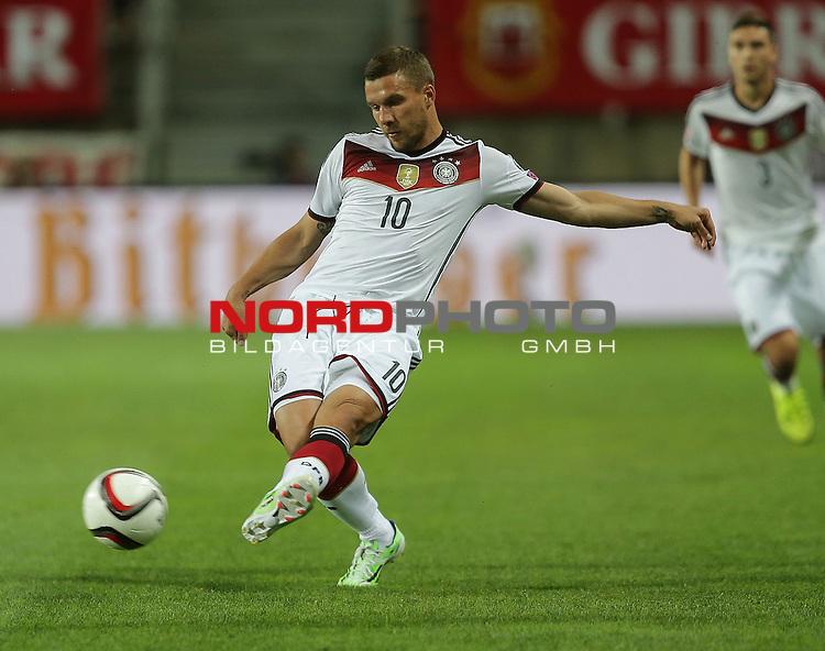 EM 2015 Qualifikationsspiel, Gibraltar vs. Deutschland<br /> Lukas Podolski (Deutschland)<br /> <br /> <br /> Foto &copy; nordphoto /  Bratic