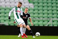 GRONINGEN - Voetbal, FC Groningen - Preussen Munster  oefenwedstrijd , Noordlease stadion, seizoen 2017-2018, 08-11-2017,   FC Groningen speler Lars Veldwijk